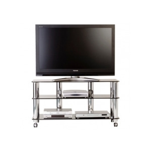 Photo of Optimum TV Stand 'Fusion Range' AV-FF3SLB - Black Glass TV Stands and Mount