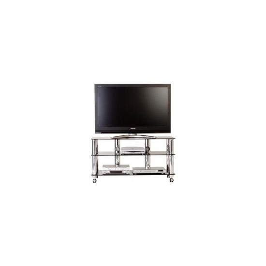 Optimum TV Stand 'Fusion Range' AV-FF3SLB - Black Glass