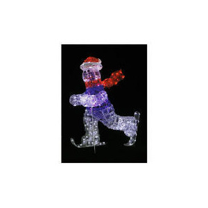 Photo of Large Ice Rock Skiing Snowman (Direct) Christmas