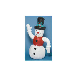 Photo of Tesco 6FT Inflatable Snowman (Outdoor) Christmas