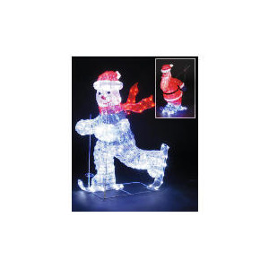 Photo of 3D Illuminated Skiing Santa Christmas