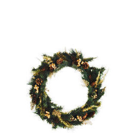 Tesco Finest Gold Fern Wreath (Direct) Reviews
