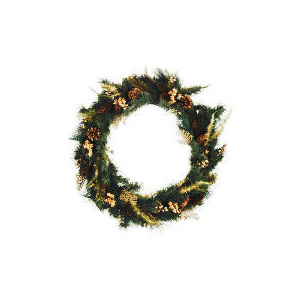 Photo of Tesco Finest Gold Fern Wreath (Direct) Christmas