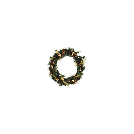 Tesco Finest Gold Fern Wreath (Direct)
