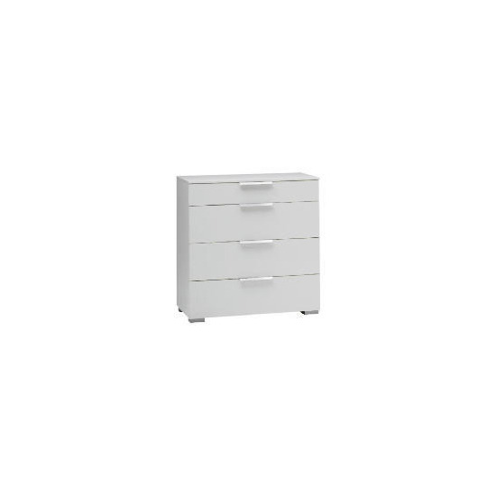 Monza 4 Drawer Chest White