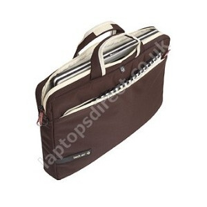 Photo of Tech Air Carry Case  - Brown and White 15.6 Inch Laptop Bag