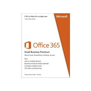 Photo of Microsoft Office 365 Small Business Premium - 1 Year Subscription For 1 User/2 PC's Software