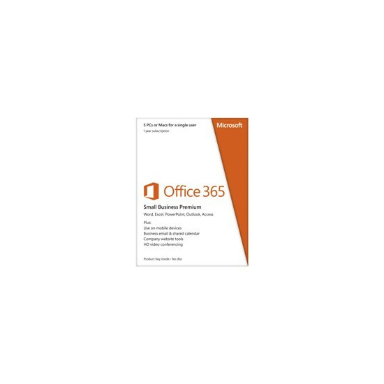 Microsoft Office 365 Small Business Premium - 1 Year Subscription for 1 User/2 PC's