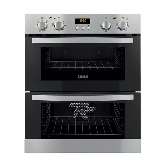 Zanussi ZOF35501XK Electric Built-under Double Oven - Stainless Steel