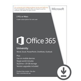 Microsoft Office 365 University English- 4 Years Subscription for 1 User/2 PC's Reviews