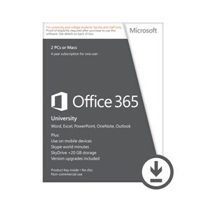 Photo of Microsoft Office 365 University English- 4 Years Subscription For 1 User/2 PC's Software