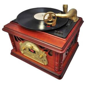 Photo of Pyle Home PTCDS3UIP Classic Trumpet-Horn Turntable HiFi System