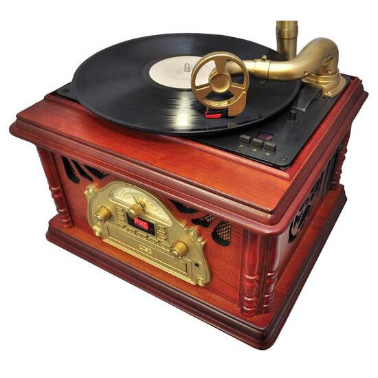Pyle Home PTCDS3UIP Classic Trumpet-horn Turntable