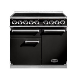 Falcon 100100 - 1000 Deluxe Electric Range Cooker With Induction Hob - Black F1000DXEIBL/C