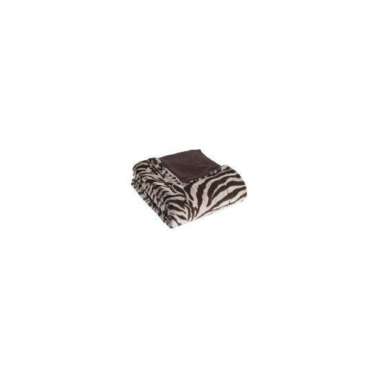 Tesco Faux Fur Throw, Zebra