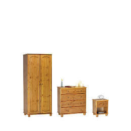 Salisbury 2 Door Wardrobe, Antique Pine,  4 Drawer bedside chest,  4 Drawer Chest Reviews