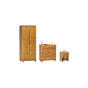 Photo of Salisbury 2 Door Wardrobe, Antique Pine,  4 Drawer Bedside Chest,  4 Drawer Chest Furniture