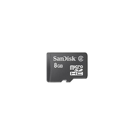 MicroSDHC 8GB Card with SDHC Adapter