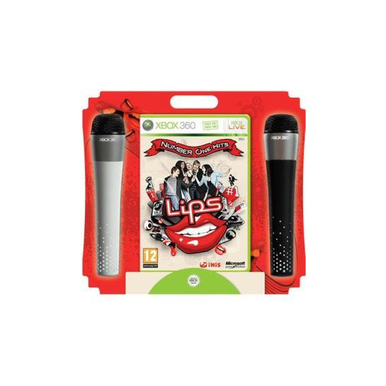 Lips: Number One Hits - Bundled With Wireless Mics (Xbox 360)