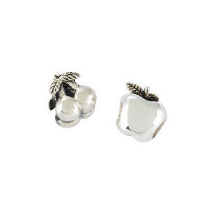 Photo of Silver Cherries & Apple Charm Bead Set Jewellery Woman