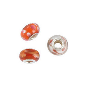 Photo of SILVER RED GLASS CHARM BEAD 3 PACK Jewellery Woman
