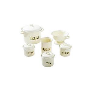 Photo of Swan Enamel 6PC Kitchen Set - Cream Cookware