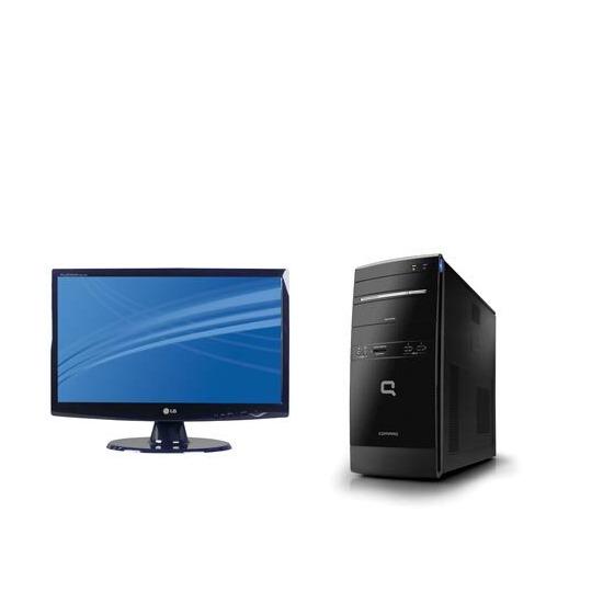 HP Compaq Presario CQ5115 with LG W2043S monitor