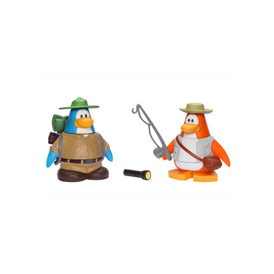 Disney Club Penguin - 5cm Mix 'n' Match Figure Series 4 Camping and Fisherman