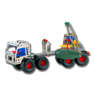Photo of Nuts & Bolts Engineering Set - Truck & Trailer With Crane Toy