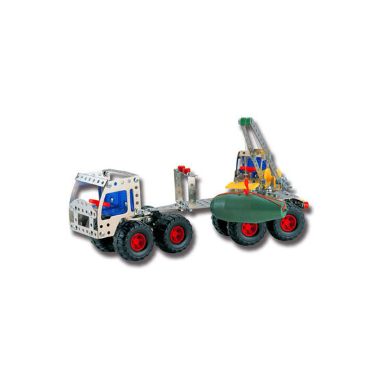 Nuts & Bolts Engineering Set - Truck & Trailer with Crane