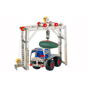 Photo of Nuts & Bolts Engineering Set - Truck & Crane Loader Toy
