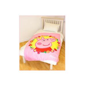 Photo of Peppa Pig Polka Dot Fleece Blanket Bed Linen