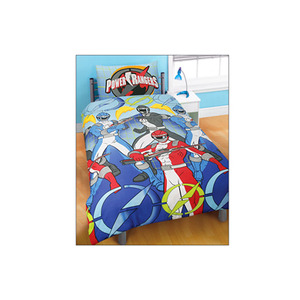 Photo of Power Rangers Blue Duvet and Pillowcase Set Bed Linen