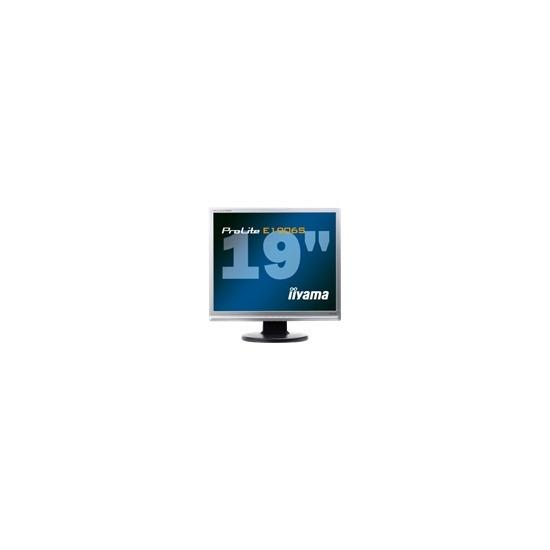 "Iiyama Pro Lite E1906S-1 - LCD display - TFT - 19"" - 1280 x 1024 - 250 cd/m2 - 20000:1 (dynamic) - 5 ms - 0.294 mm - DVI-D, VGA - speakers - silver"