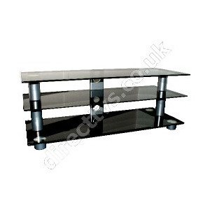 Photo of OSI Black Glass Contempory TV Stand Up To 50 Inch TV Stands and Mount