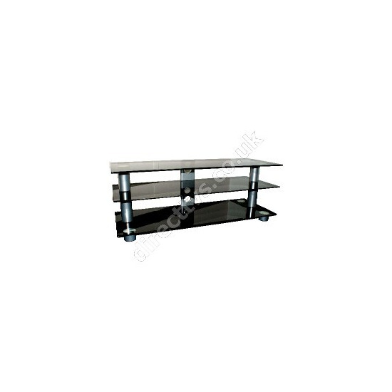 OSI Black Glass Contempory TV Stand Up to 50 Inch