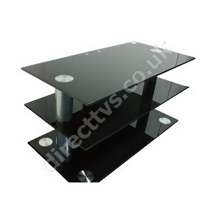 Photo of OSI Black Glass Contempory TV Stand Up To 40 Inch TV Stands and Mount