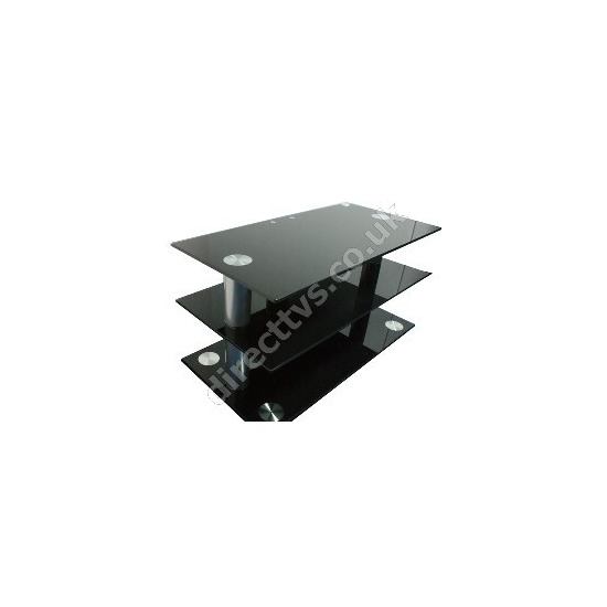 OSI Black Glass Contempory TV Stand Up To 40 Inch