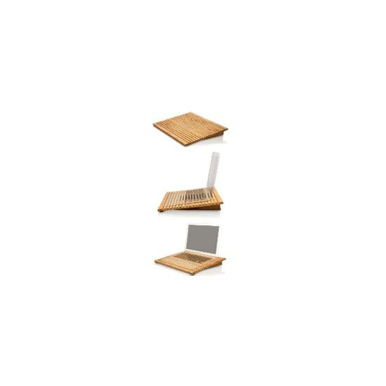 EcoFan Pro - Bamboo Laptop Cooling Stand