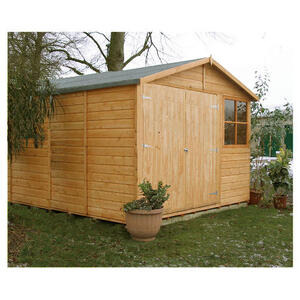 Photo of Finewood Modula Double Door Wooden Apex Shed (9 X 12) Shed