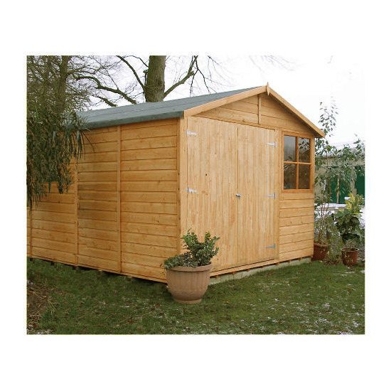 Finewood Modula Double Door Wooden Apex Shed (9 x 12)