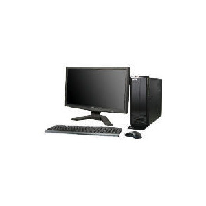 """Photo of Acer AS X1301 620 X4 4GB 640GB Windows 7 Desktop With 20"""" PC Monitor Desktop Computer"""