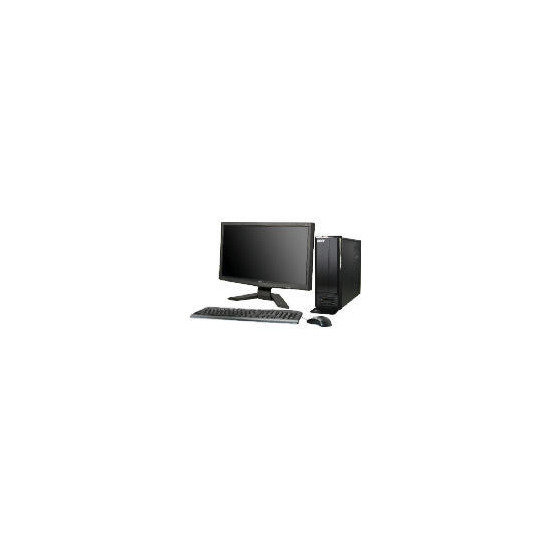 "Acer AS X1301 620 X4 4GB 640GB Windows 7 Desktop with 20"" PC Monitor"