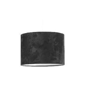 Photo of Tesco Faux Suede Drum Shade, Black Lighting