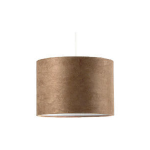 Photo of Tesco Faux Suede Drum Shade, Taupe Lighting