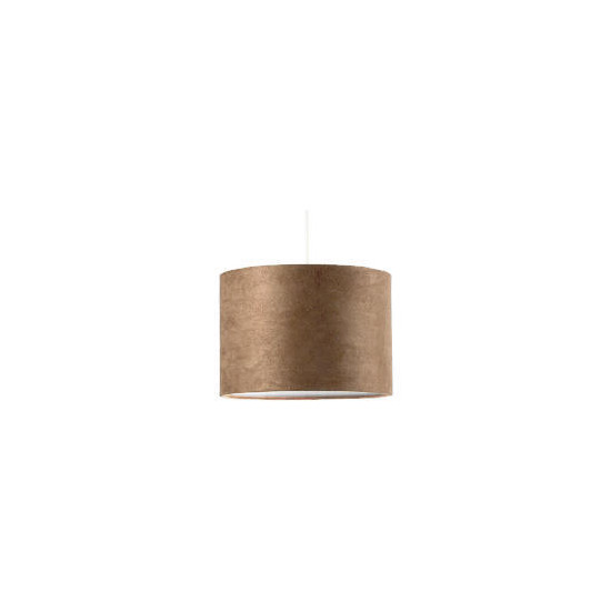Tesco Faux Suede Drum Shade, Taupe