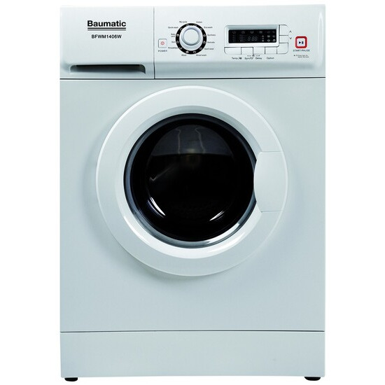 Baumatic BFWM1406W Washing Machine 1400 Spin 60cm 6kg 12 Programs A