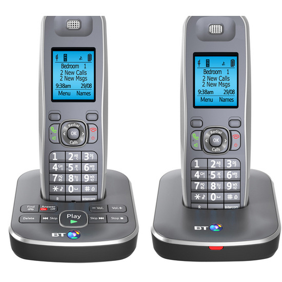 BT 7500 Digital Cordless Phone with Answering Machine - Twin handsets