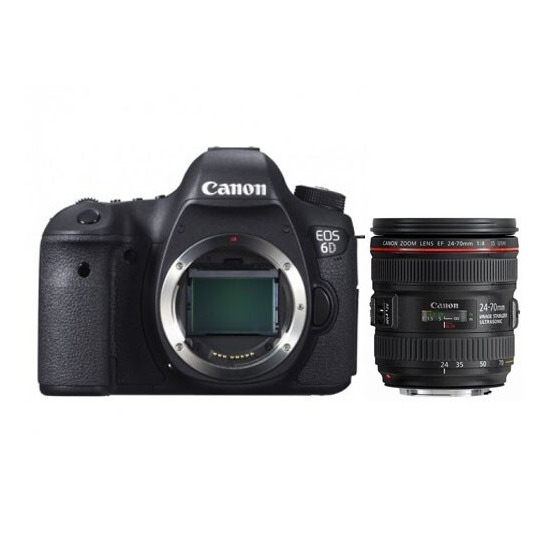 Canon EOS 6D with 24-70mm f/4L IS USM Lens
