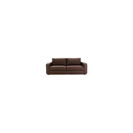 Lyon Leather Sofa Large, Chocolate